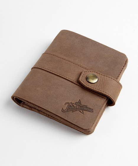 Love It Distressed Leather Wallet