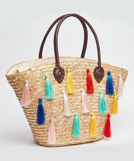 Truly Retro Tassel Basket