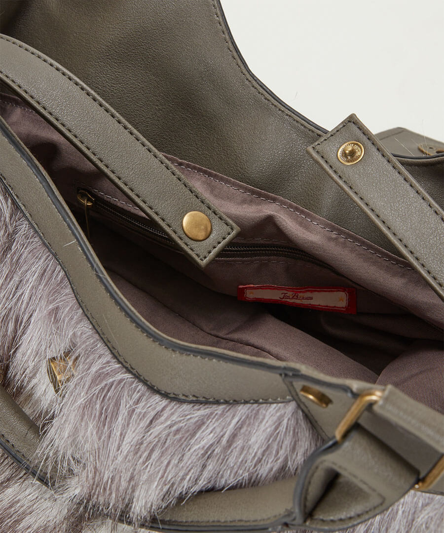 Anastasia Faux Fur Bag Back