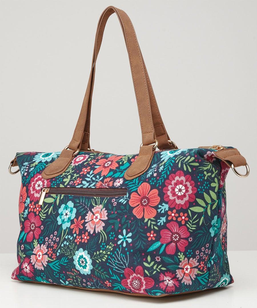 Floral Fantasy Day Bag Model Front