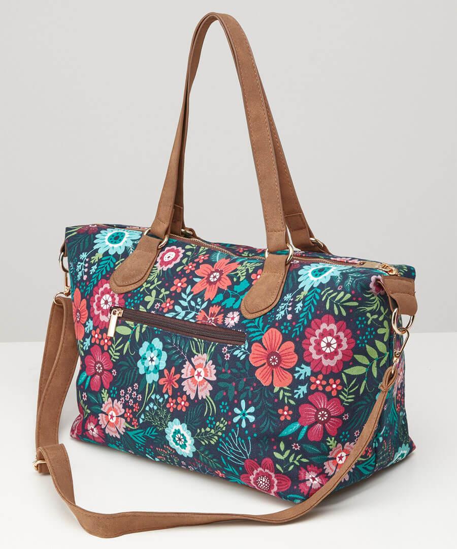 Floral Fantasy Day Bag Model Back