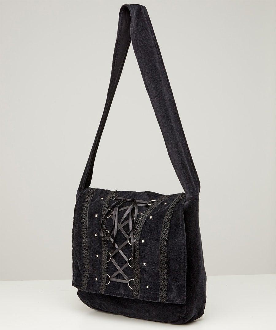 Mystique Velvet Bag Model Back