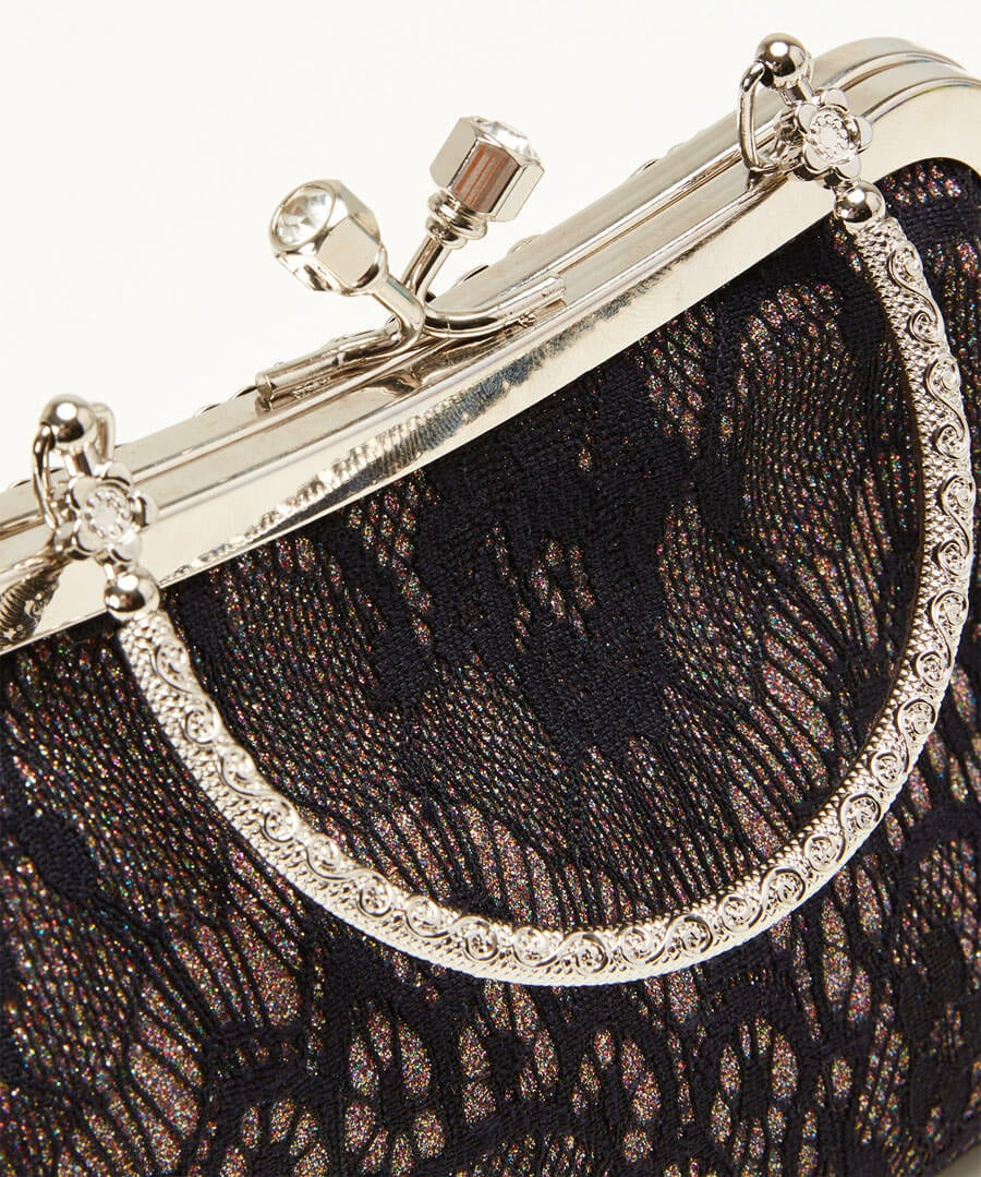 Lavish And Lacey Evening Bag Model Back