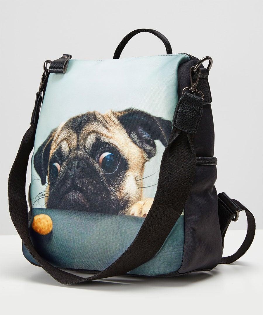 Cute Pug Bag Model Front