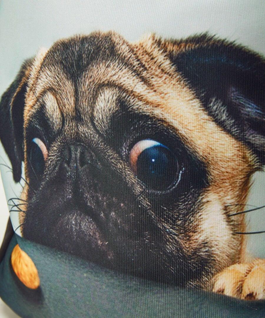 Cute Pug Bag Model Back