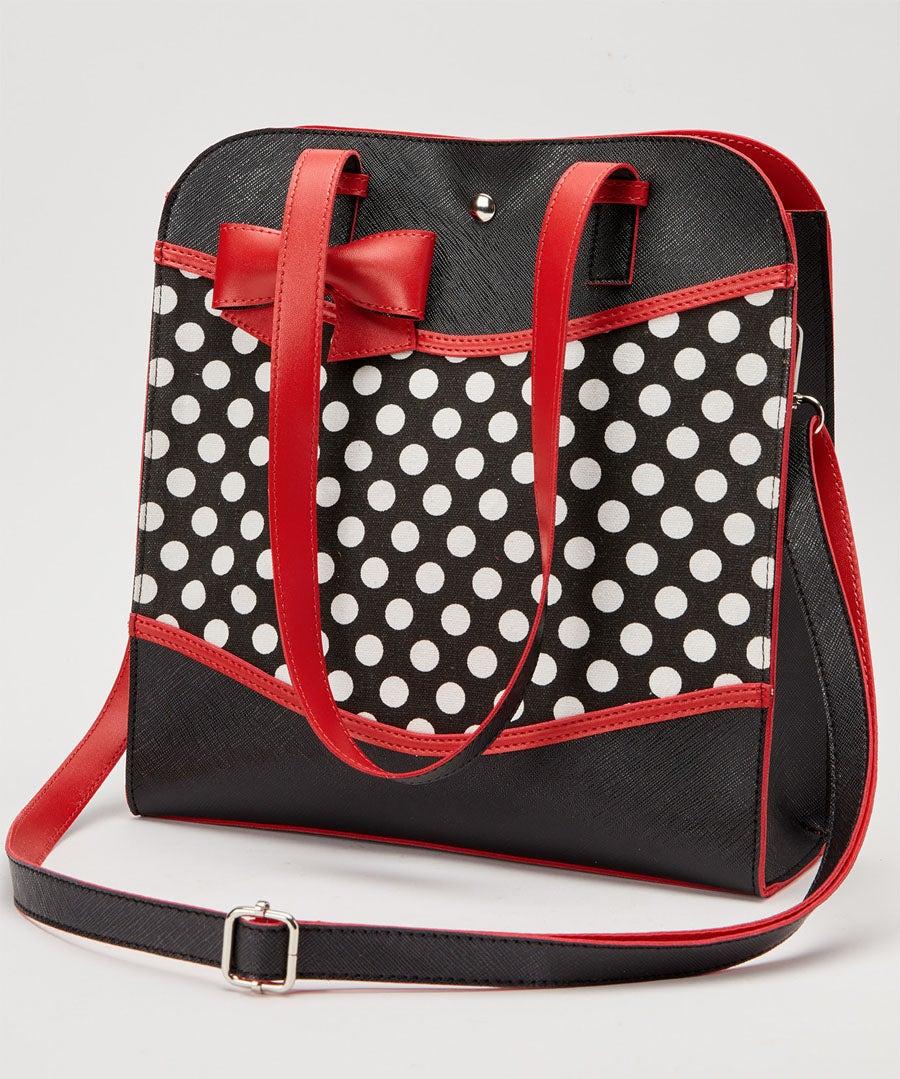 Bettys Polka Dot Bag Model Front