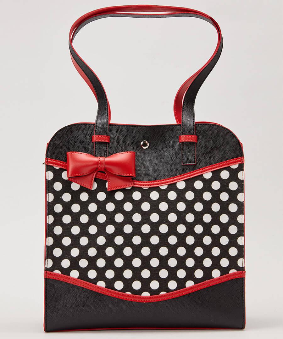 Bettys Polka Dot Bag Model Back