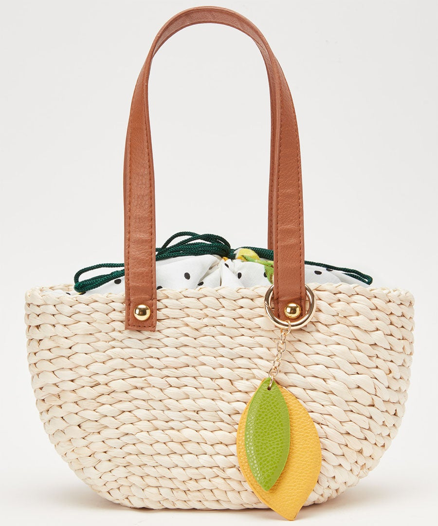 Sweet Lemon Basket Bag Model Front