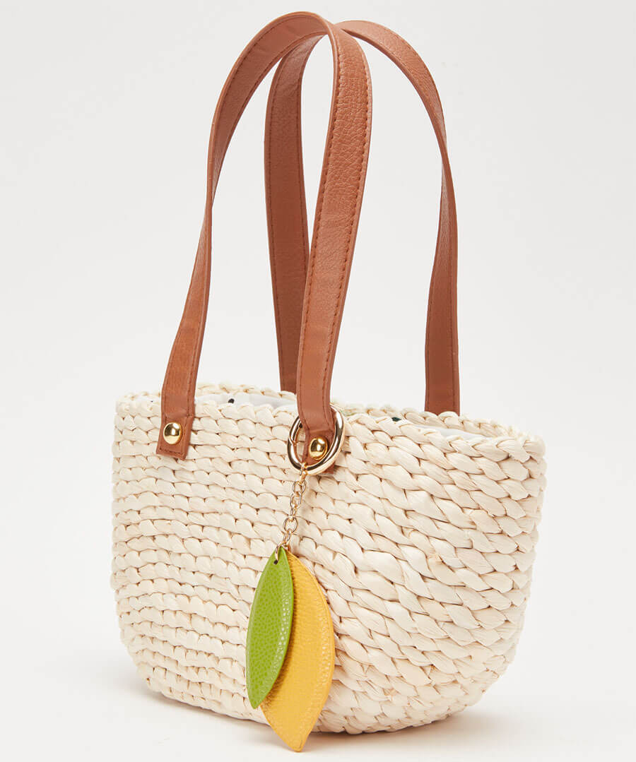 Sweet Lemon Basket Bag Model Back
