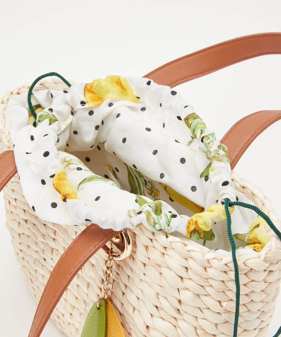 Sweet Lemon Basket Bag Back
