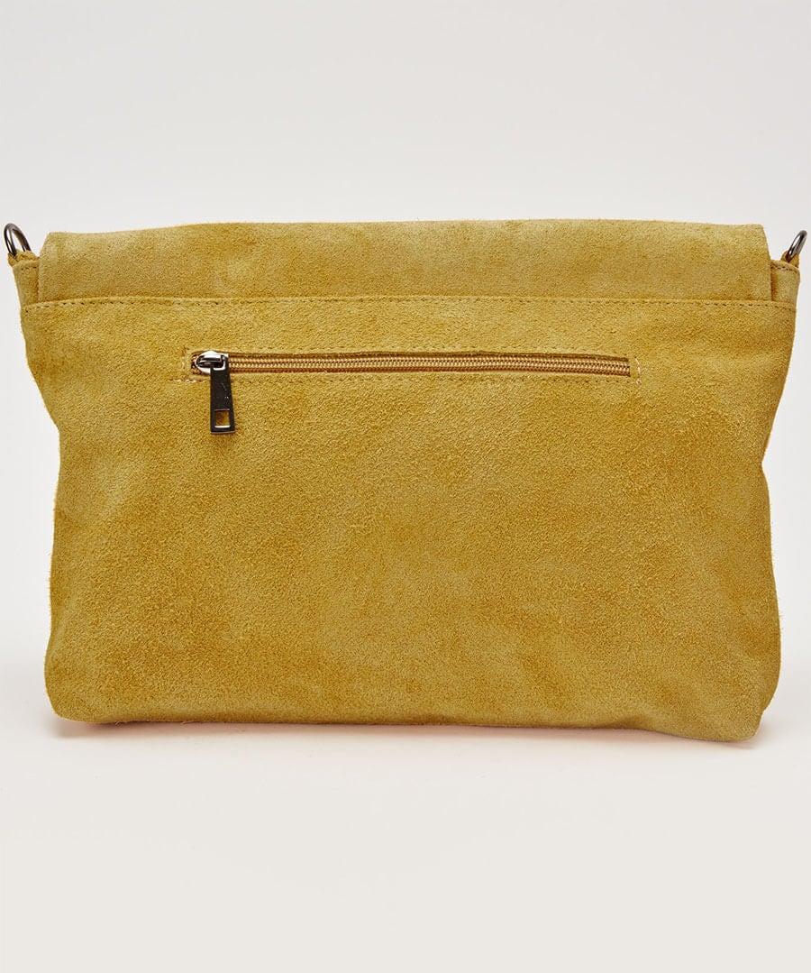 Romola Suede Tassel Bag Model Back