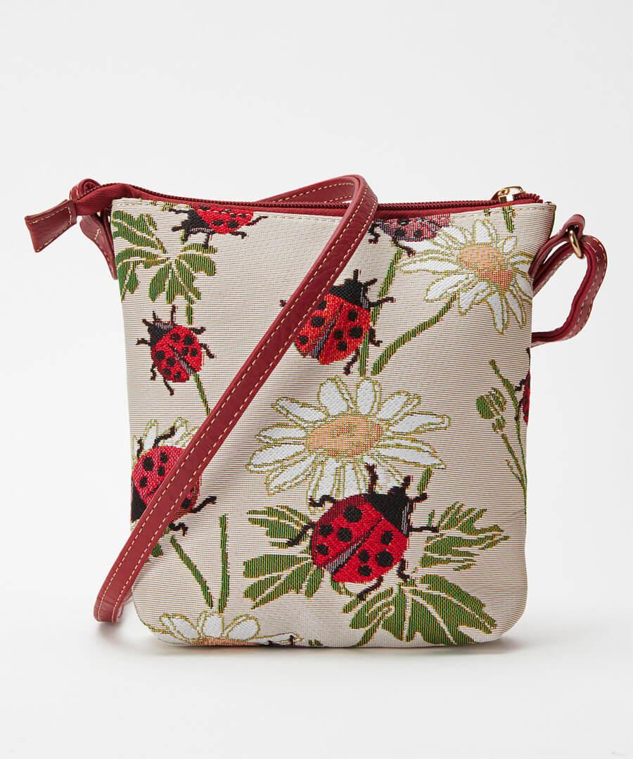 Ladybird Tapestry Bag Model Back