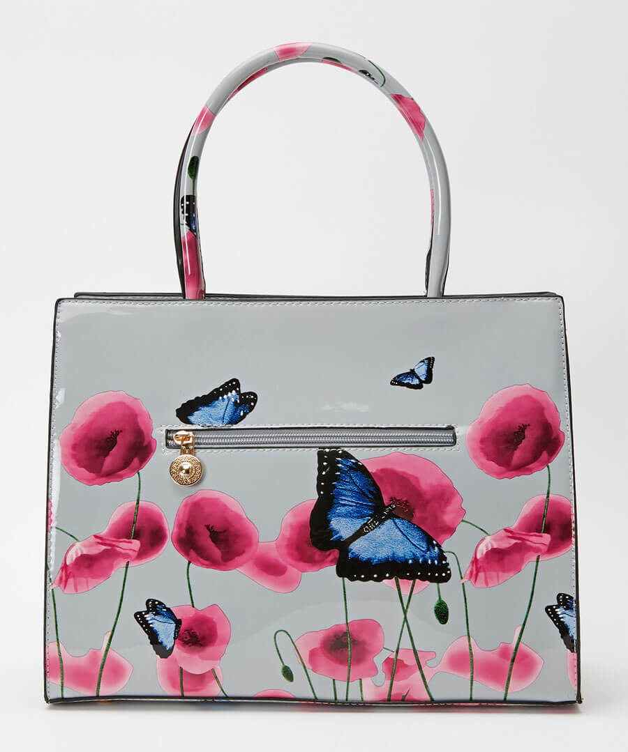 Glorious Patent Poppy Bag Back