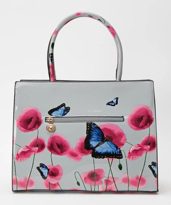 Glorious Patent Poppy Bag