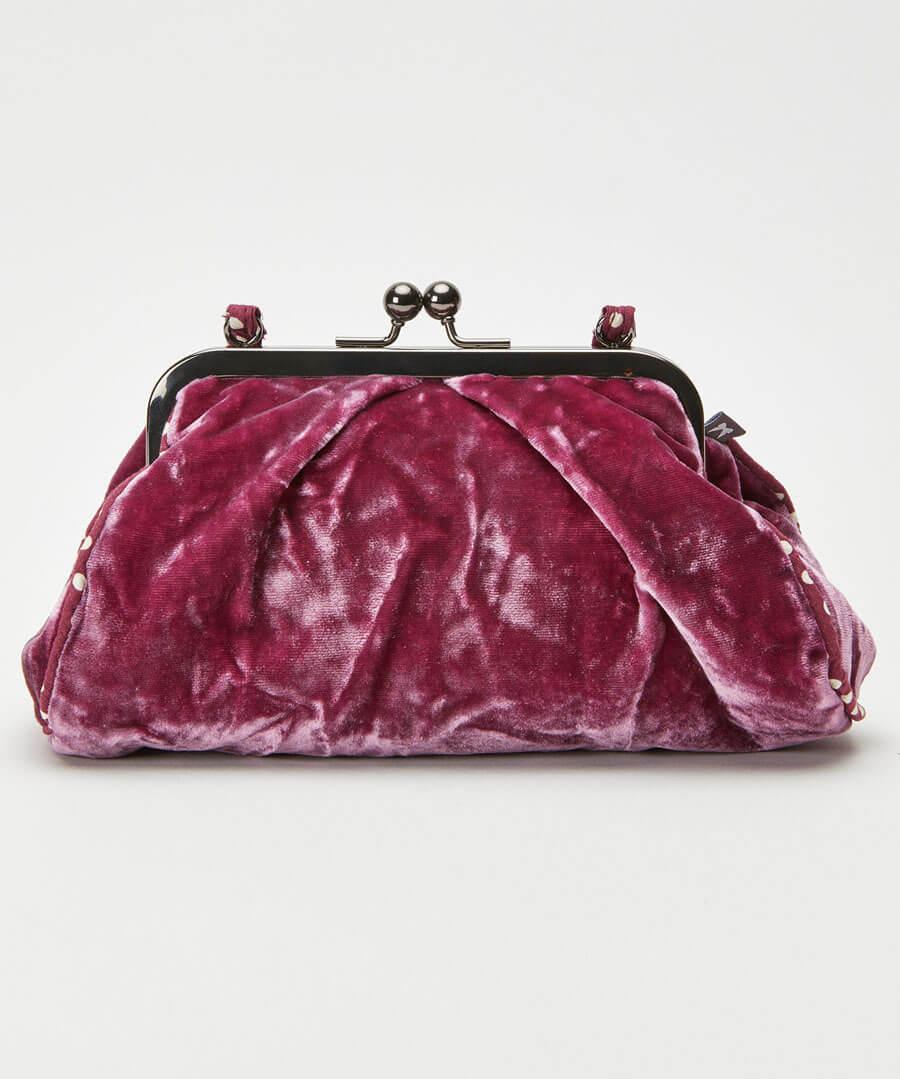 Silk Velvet Vintage Style Bag Model Front
