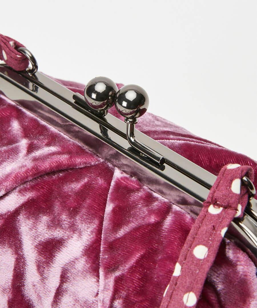 Silk Velvet Vintage Style Bag Model Back