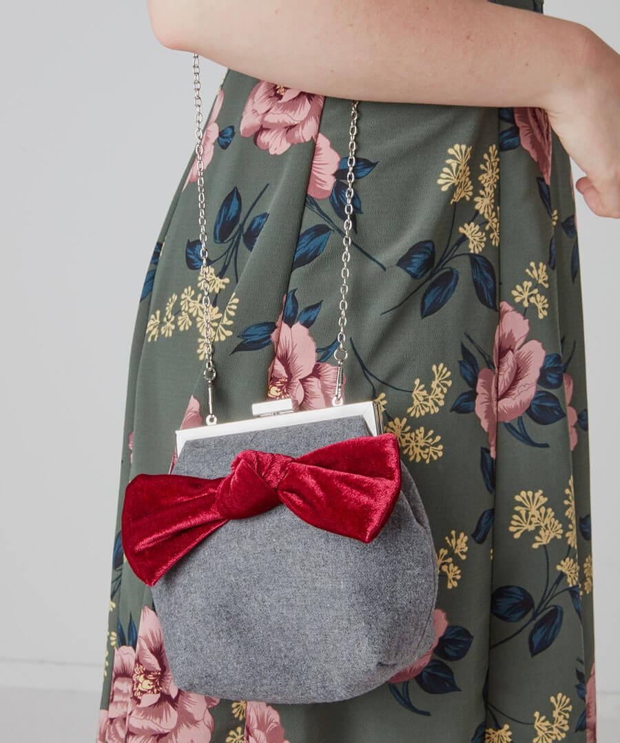 Rockefeller Velvet Bow Bag Back