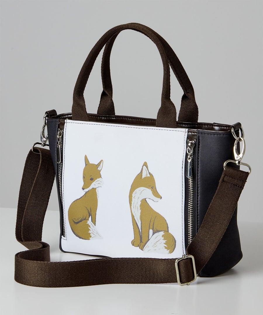 Woodland Fox Tote Bag Model Front