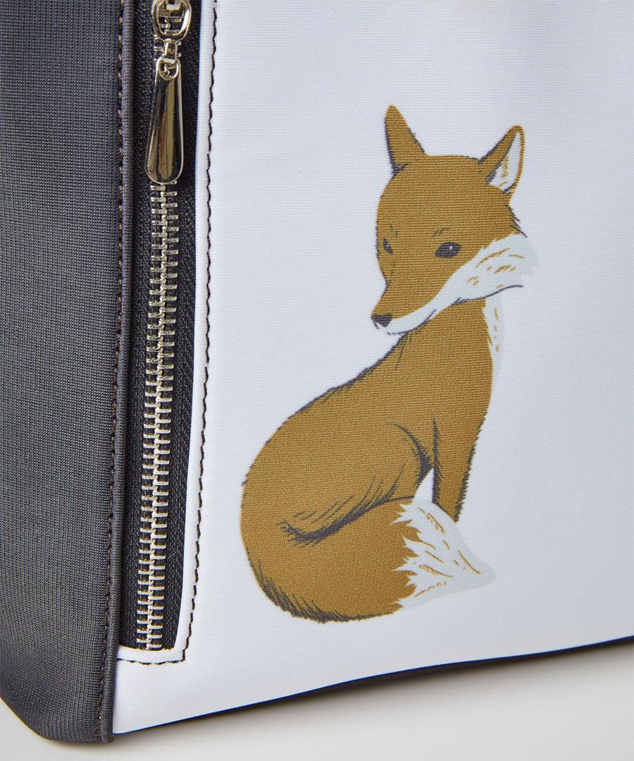 Woodland Fox Tote Bag Model Back