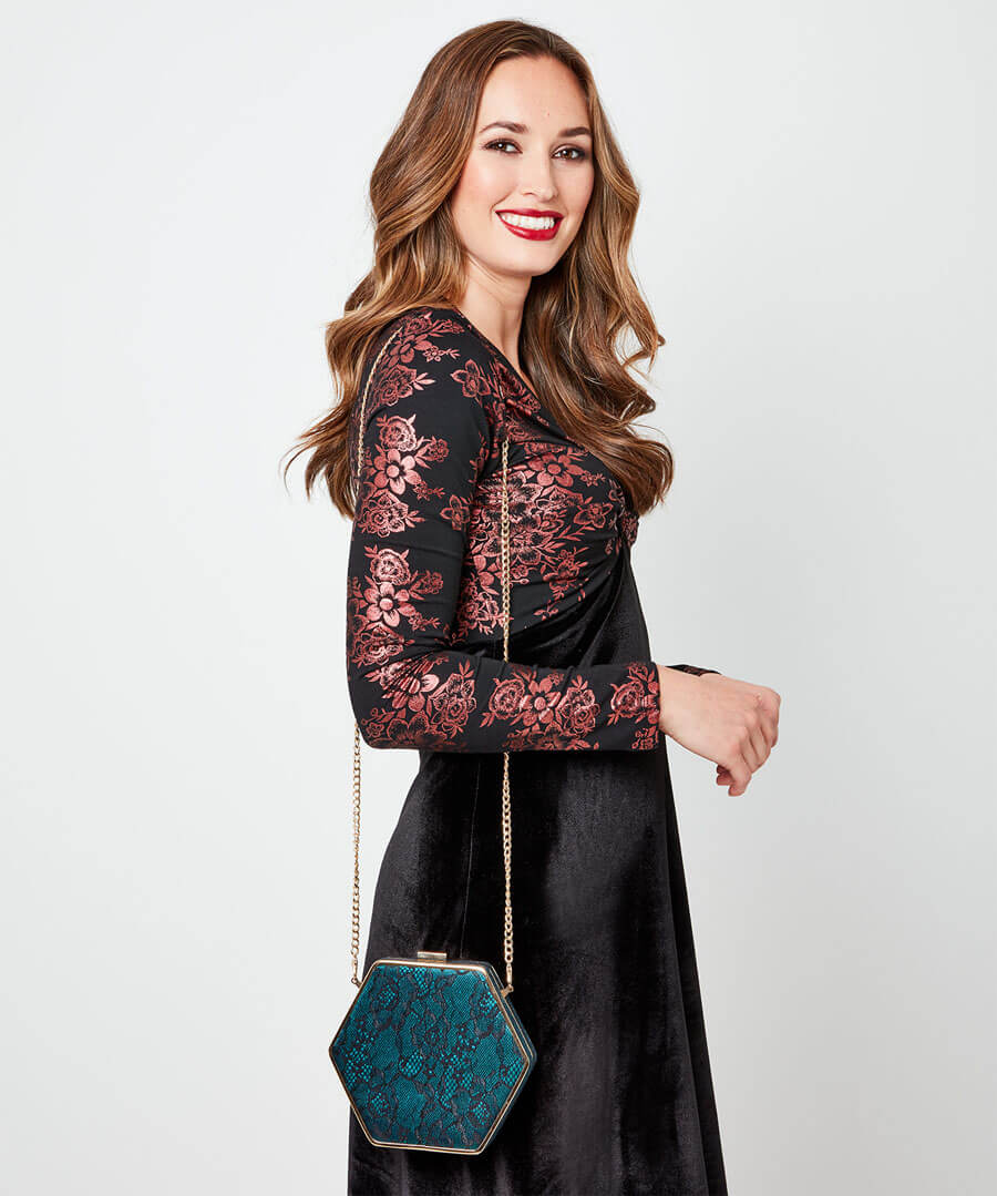 Starlet Lace Evening Bag Model Back