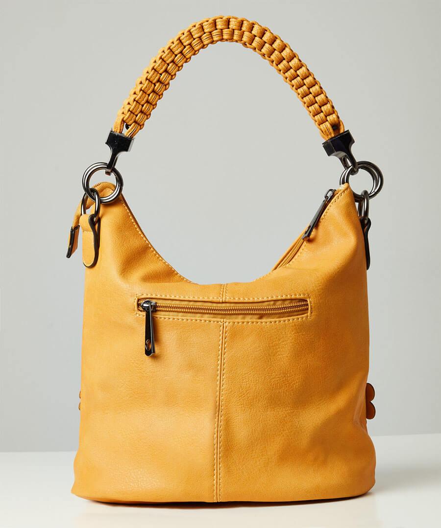 Gorgeous Flower Applique Bag Model Back