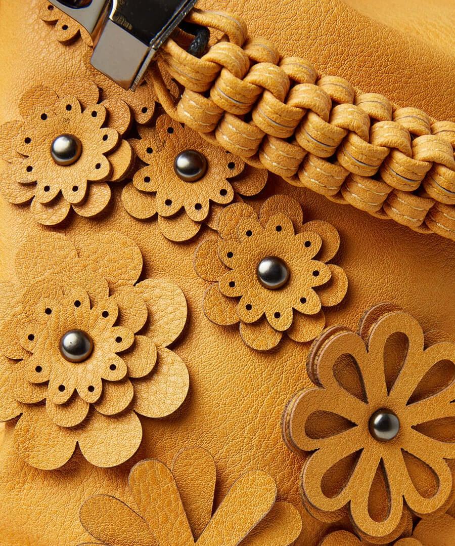 Gorgeous Flower Applique Bag Back