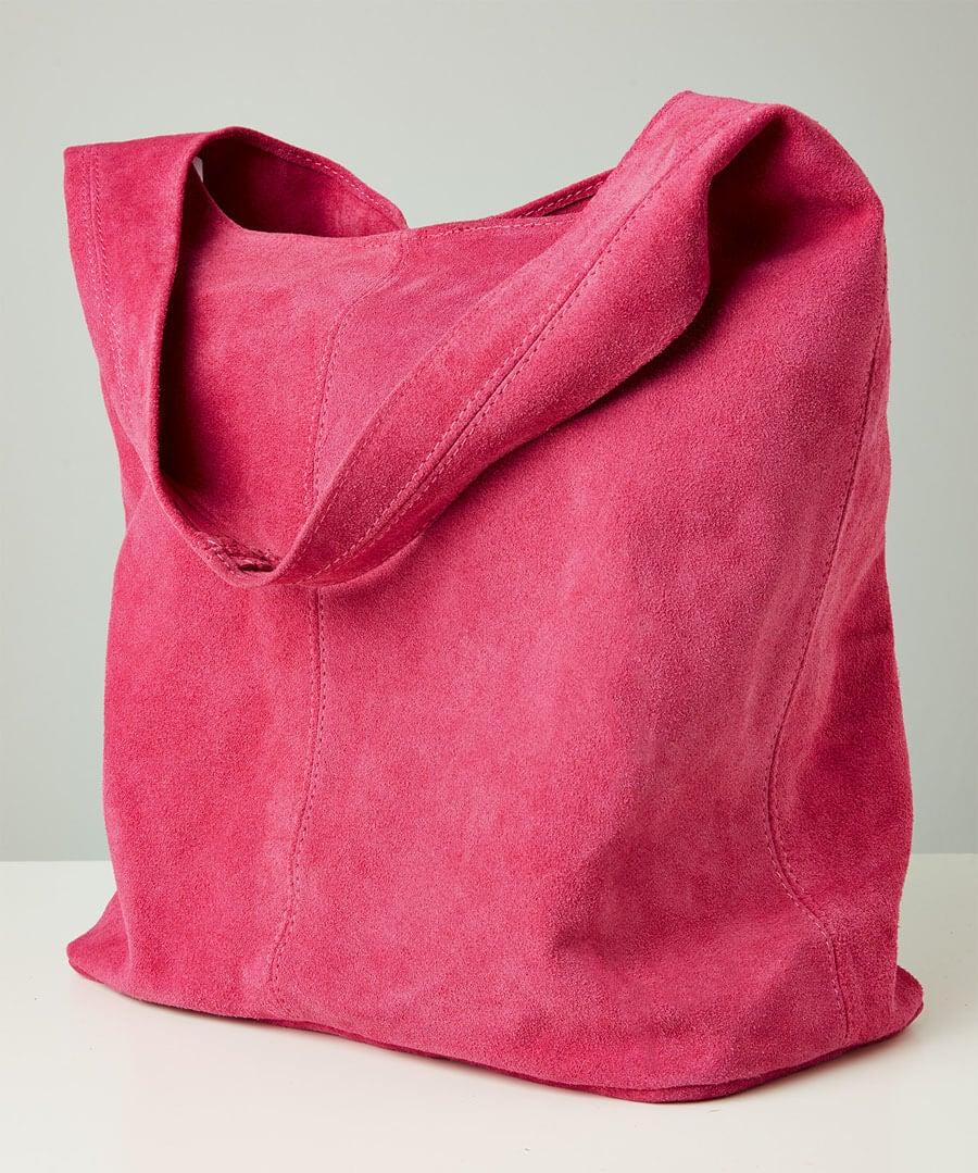 Bella Boho Suede Bag With Purse Model Back