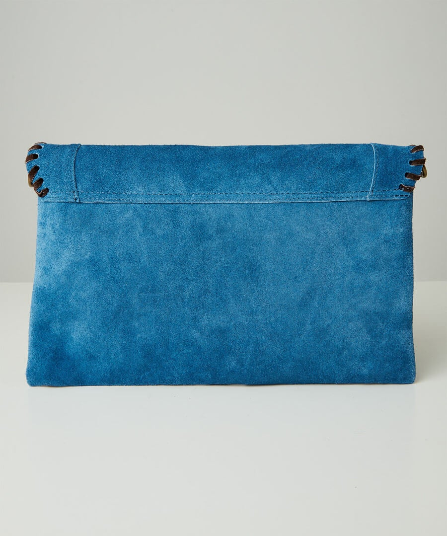 Sassy Suede Whip Stitch Bag Model Back