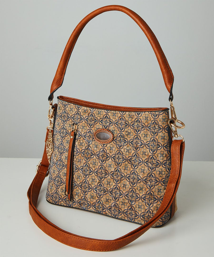 Indian Temple Print Bag Model Front