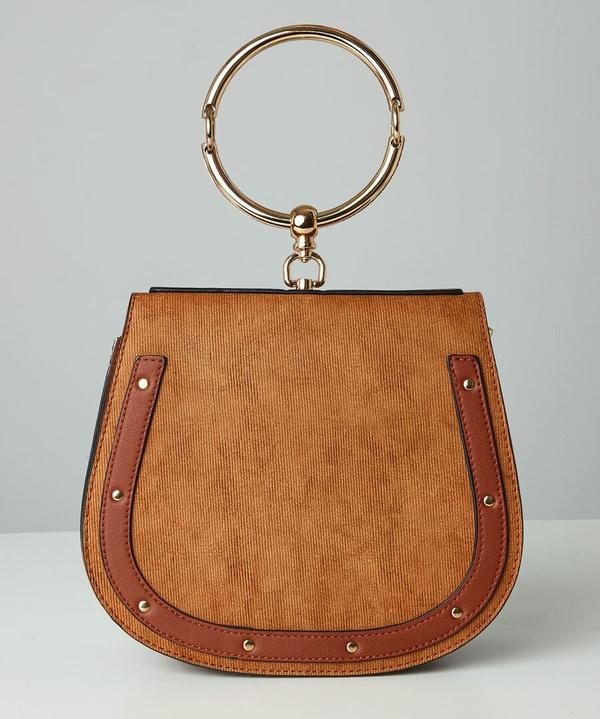 Studded Saddle Bag