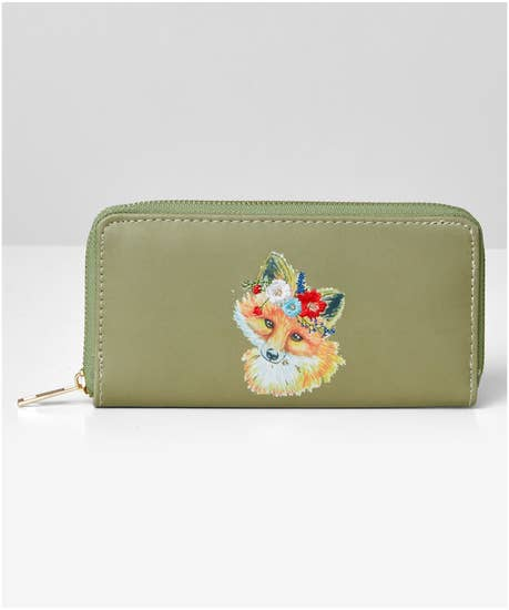 Foxy Embroidered Purse