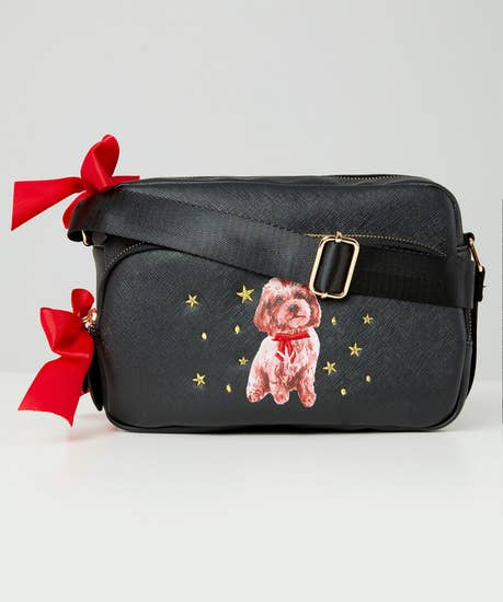 Puppy Love Embroidered Bag