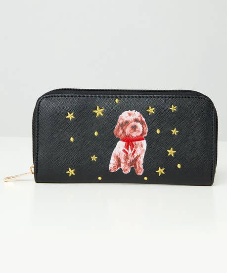 Puppy Love Embroidered Purse