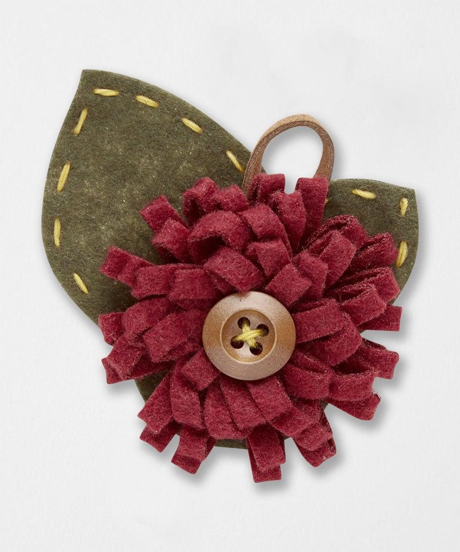 Button Flower Pin