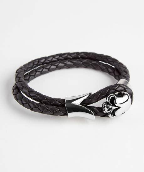 Ultimate Skull Leather Bracelet
