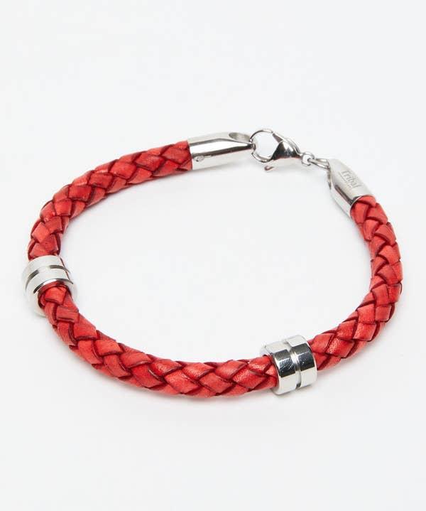 Leather Barrel Bracelet