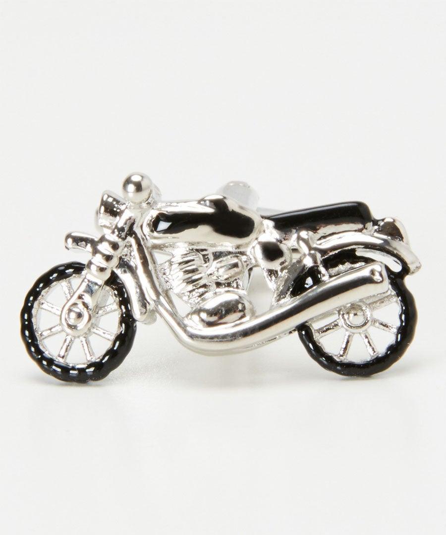 Motorbike Cufflinks Model Front