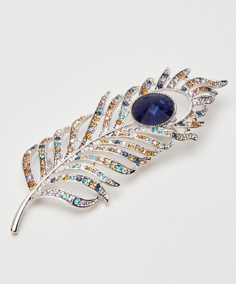 Pretty Peacock Feather Brooch