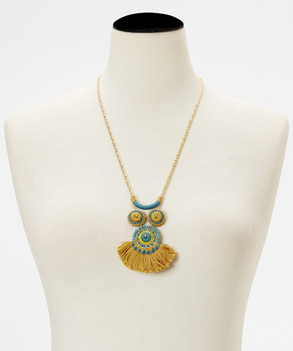 Mexican Fan Necklace