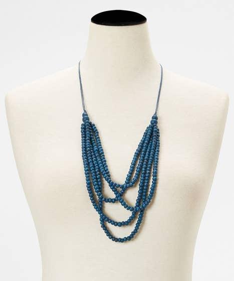 Blue Horizon Beaded Necklace