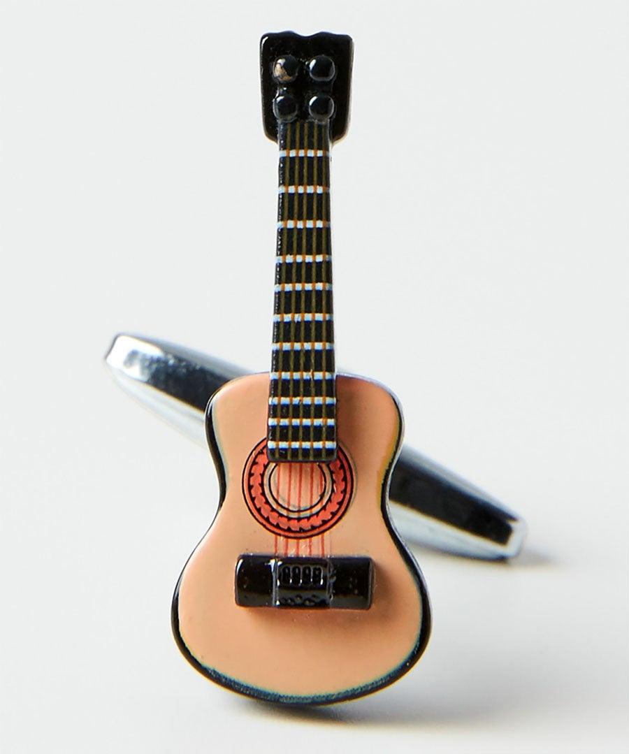 Acoustic Guitar Cufflinks Model Front
