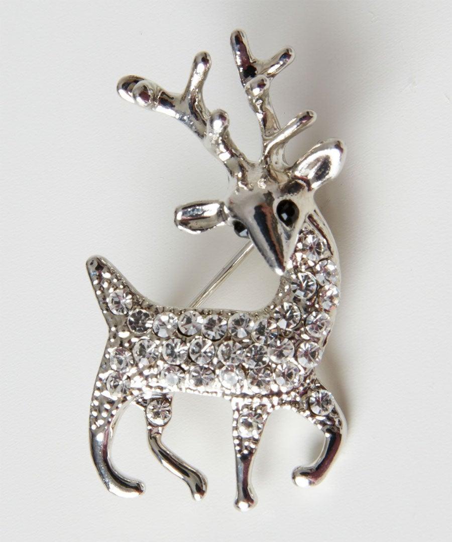 Dainty Diamante Stag Pin