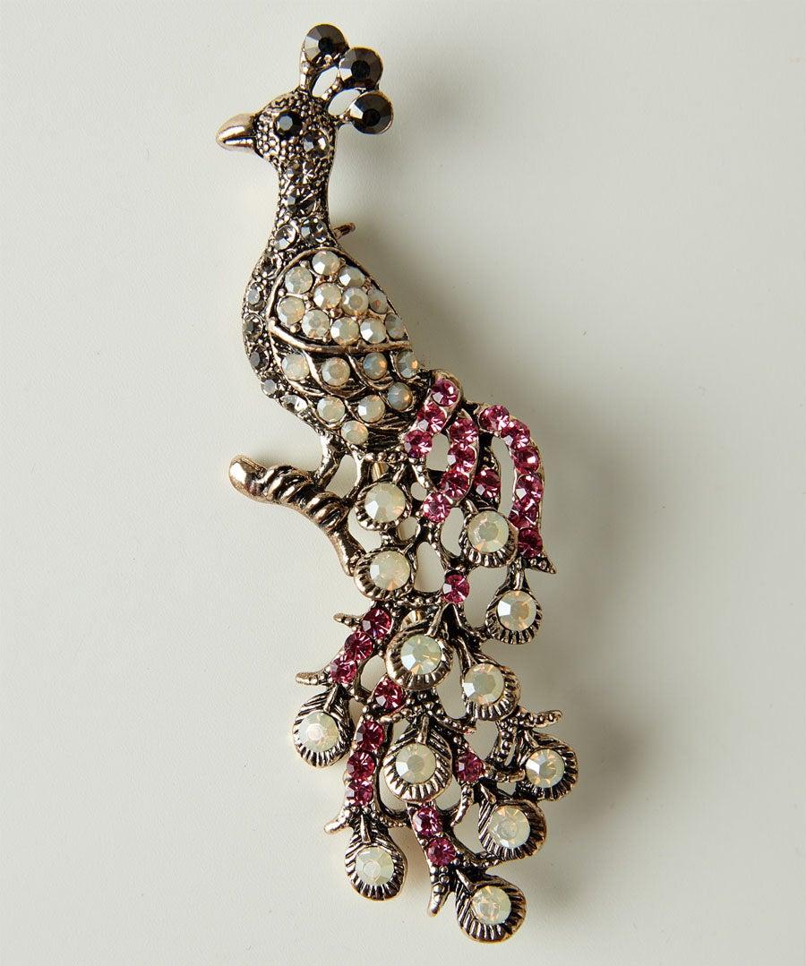 Very Vintage Peacock Brooch