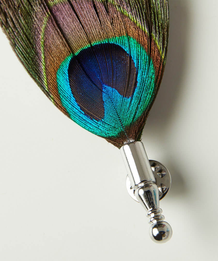 Luxury Peacock Feather Pin