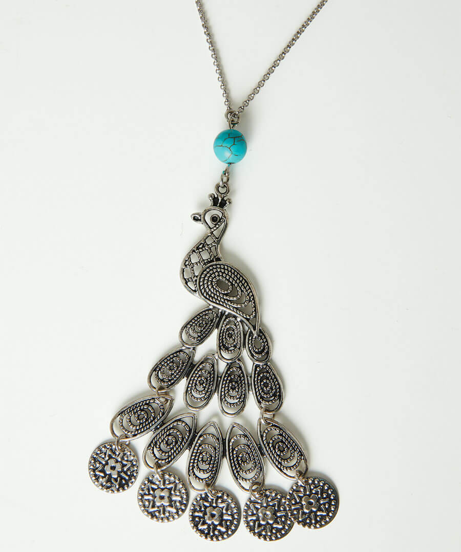 Peacock Paradise Necklace Back