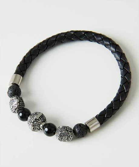 Mens Bead And Stone Bracelet