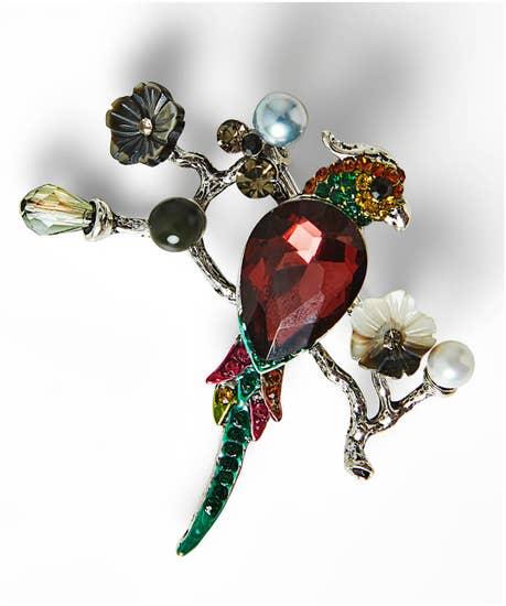 Vintage Style Bird Brooch