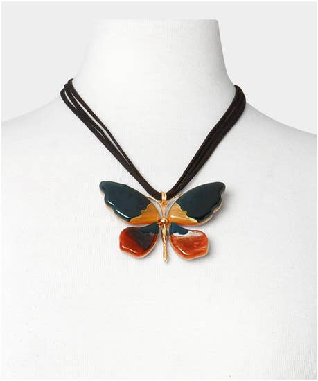 Painted Lady Butterfly Necklace