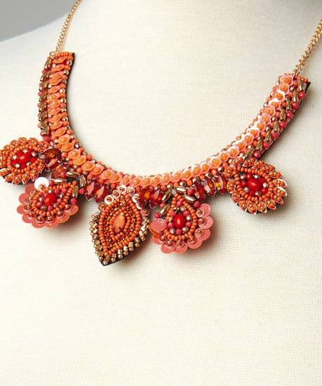 Indian Sparkle Collar Necklace