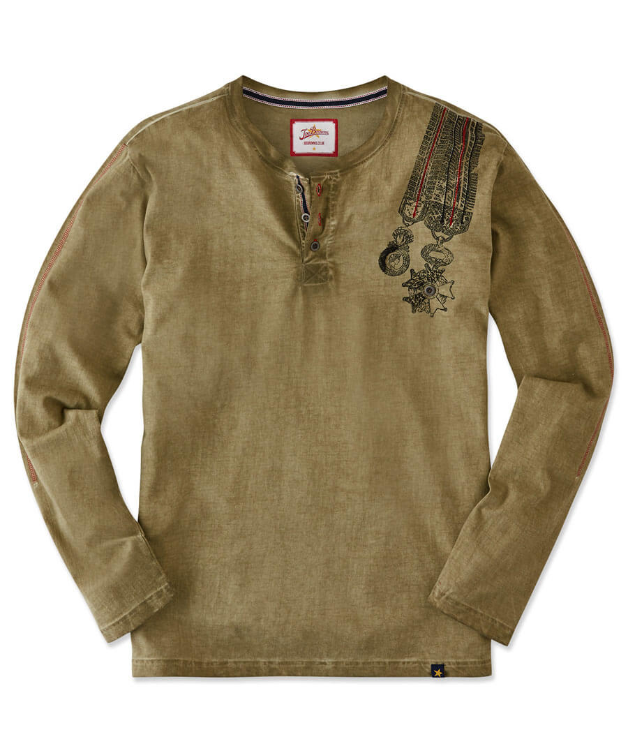 Worth A Medal Henley Model Front